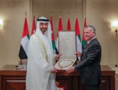 صور .. تعرف على تفاصيل زيارة محمد بن زايد للملك عبد الله فى الأردن