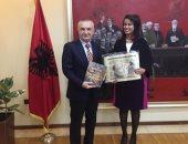 الرئيس الألبانى يستقبل النائبة ماريان عازر بالقصر الرئاسى