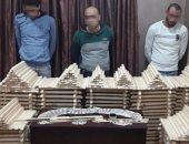 فيديو.. إحباط تهريب نصف مليون قرص مخدر داخل أسطوانات خشبية بالدقهلية