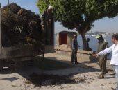 الأقصر تقود حملات لتنظيف نهر النيل وترفع 14 طنا من مخلفات الشوارع.. صور