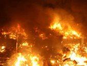 """أمطار من النيران فى """"لاهاى"""" احتفالا برأس السنة كادت تتحول لكارثة .. فيديو"""