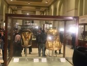 شاهد.. مجموعة يويا وتويا بعد عرضها بالمتحف المصرى بالتحرير