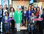 صور..جولة السيدة إنتصار السيسى لمنطقة ريادة الأعمال Startup Vein خلال منتدى الشباب