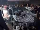 حادث مروع وتهشم سيارتين أعلى كوبرى أكتوبر.. وأنباء عن حالات وفاة