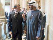 صور.. ولى عهد أبو ظبى يبحث مع الرئيس الفرنسى فى باريس القضايا المشتركة
