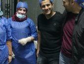 """فريق طبى بـ""""بنها الجامعى"""" ينجح فى استخراج قشرة لب من القصبة الهوائية لطفل"""