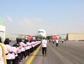 77 من نساء شرطة دبى يدخلن موسوعة جينيس بسبب طائرة بوينج.. فيديو وصور