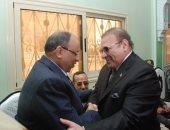 وزيرا الأوقاف والتنمية المحلية ومحافظ شمال سيناء وحسن راتب فى صلاة الجمعة من مسجد الروضة