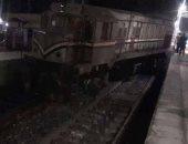 السكة الحديد: انقلاب جرار مفرد على خط عين شمس - السويس بسبب السيول