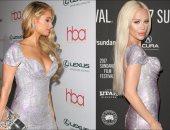 بعد باريس هيلتون.. متحول جنسى يرتدى فستانها الفضى والسعر مليون دولار