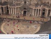 شاهد..مدرج بصرى الشام ينجو من ويلات الحرب ويستقبل السوريين