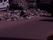 قارئ يشكو انتشار القمامة بشارع أحمد زويل بمنطقة الطوابق فى شارع فيصل