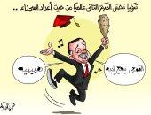 """""""اليوم السابع"""" يرصد فرحة أردوغان باحتلال تركيا المركز الثاني فى القمع وعدد السجناء"""