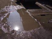 صور.. أهالى زفتى يشتكون من انتشار مياه الصرف الصحى بأحد الشوارع الرئيسية