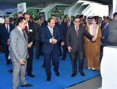 شاهد.. لحظة افتتاح الرئيس السيسى المؤتمر العربى الدولى الـ15 للثروة المعدنية