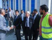 وزير الرياضة يتفقد المشاريع الجديدة بالمركز الأولمبى فى المعادى