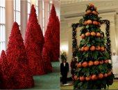 شاهد.. اختلاف ديكور شجرة الكريسماس فى البيت الأبيض منذ 1961