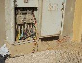 شكوى من انتشار الكابلات الكهربائية العارية فى المجاورة السادسة بمدينة الشروق