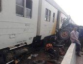 عودة حركة قطارات القاهرة الإسكندرية بعد اصطدام سيارة نقل بقطار فى البحيرة