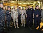 """وزير الدفاع يشهد المرحلة الرئيسية لتدريب """"ميدوزا -7"""" رفقة نظيريه باليونان وقبرص"""