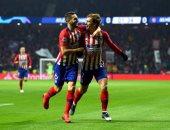 أتلتيكو مدريد يتفوق على موناكو بثنائية فى الشوط الأول بدورى أبطال أوروبا