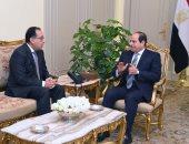 السيسى يبحث مع رئيس الوزراء المشروعات القومية ويوجه بتطبيق أعلى المعايير