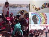 الأورجامى النوبى..ياسر وأصحابه حولوا حوائط النوبة للوحات وعلموا 100 طفل الفنون