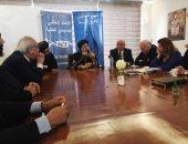 البابا تواضروس يستقبل طلاب المعهد المسكونى بدير الأنبا بيشوى بوادى النطرون