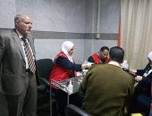 """صور.. شرطة بنى سويف تشارك فى حملة """"100 مليون صحة"""""""