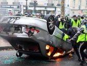 شرطة باريس: إصابة 133 شخصا واعتقال 412 آخرين جراء الاحتجاجات