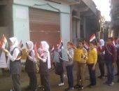 طلاب يدعمون مبادرة الرئيس بمسيرة وحملة دعائية بقرية بكفر الشيخ