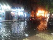 هطول أمطار غزيرة على مدينة أبو سمبل بأسوان