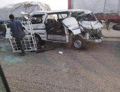 إصابة 10 أشخاص فى حادثين منفصلين على صحراوى بنى سويف الشرقى