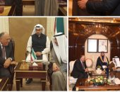 ننشر صور لقاء سامح شكرى برئيس الوزراء ورئيس مجلس الأمة فى الكويت