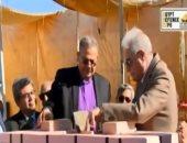 شاهد..لحظة وضع حجر الأساس لأول كنيسة للطائفة الإنجيلية فى شرم الشيخ