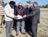 تحديد الإحداثيات ومواقع المرافق لمصنعى فصل الرمال السوداء بكفر الشيخ