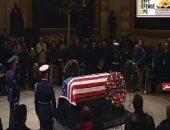 شاهد ..الجنازة الرسمية لجورج بوش الأب فى الكونجرس