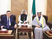 رئيس مجلس الأمة الكويتى يبحث مع السراج مستجدات الأوضاع الراهنة فى ليبيا
