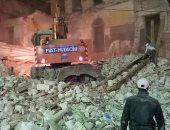 تسليم عقار وسط الإسكندرية للهدم حتى سطح الأرض للخطورة الداهمة