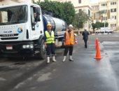 صور.. صرف القاهرة تسيطر على تجمعات مياه الأمطار وتعلن استمرار الطوارئ