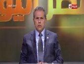 توفيق عكاشة مهاجماً قناة الجزيرة: لو لم أتمالك أعصابى لضربت الشاشة بالحذاء