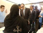 فيديو وصور.. نائب محافظ أسوان يتفقد قافلة الشهيد ساطع النعمانى بمستشفى سعاد كفافى