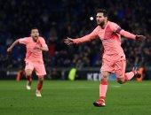 برشلونة يحسم ديربى كتالونيا مبكرا بثلاثية فى إسبانيول بالشوط الأول.. فيديو