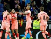برشلونة يسحق إسبانيول فى ديربى كتالونيا وينفرد بصدارة الليجا.. فيديو