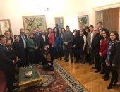 سفارة مصر ببلجراد تنظم لقاءً موسعاً لمديرى كبرى المتاحف الصربية مع زاهى حواس