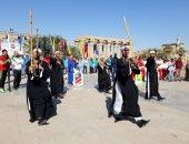 صور.. رقصات فرعونية وتحطيب بافتتاح بطولة النيل الدولية للكانوى والكياك بالأقصر