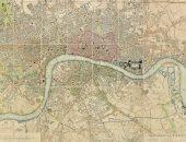 لندن منذ 188عاما .. خريطة تفصيلة توضح معالم العاصمة فى مزاد علنى