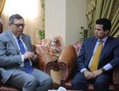 أشرف صبحى يلتقى مدير الوكالة الدولية للشراكة من أجل التنمية