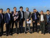 صور .. الوفد الصيني يُشيد بموقع فرع الأهلي تمهيدا لبناء الاستاد