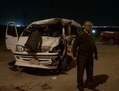 إصابة 5 فى حادث إنقلاب سيارة ميكروباص على الطريق الزراعى بطما سوهاج